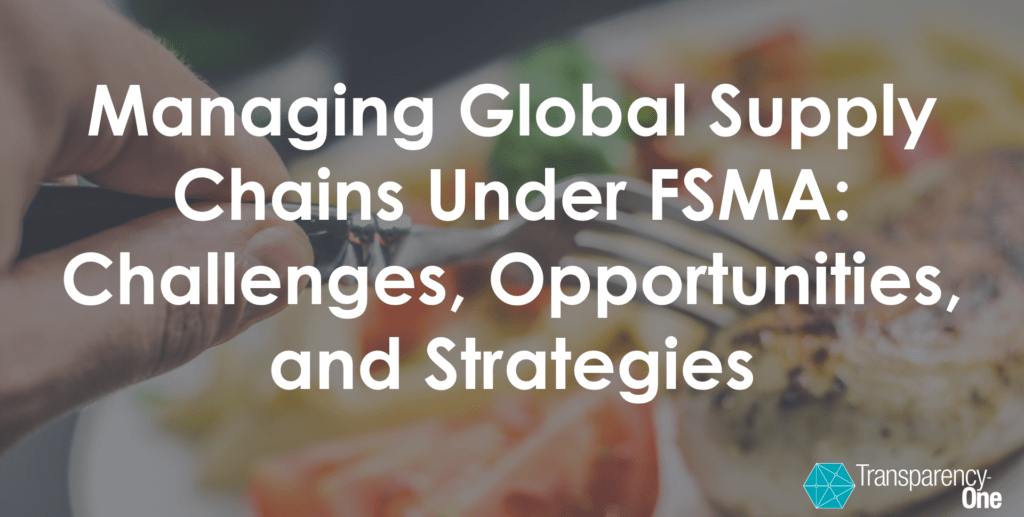 FSMA global supply chain