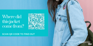 Denim jacket QR code